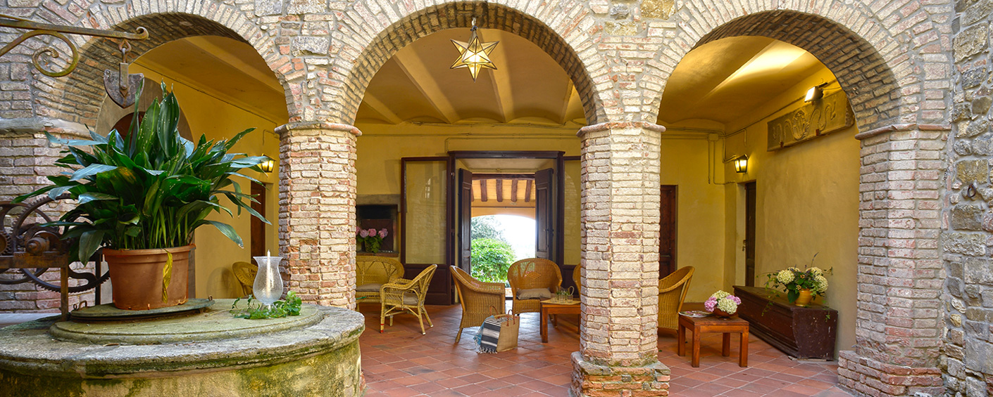 A small Renaissance palazzo in a historic village in a quiet and beautiful setting