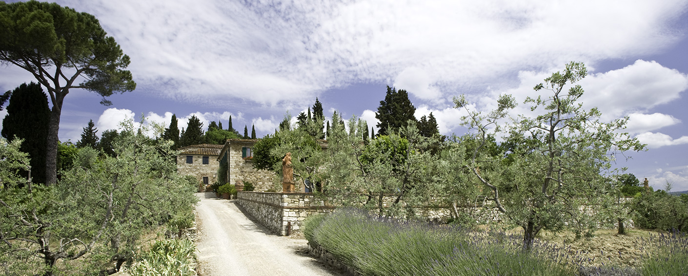 A set of restored farm buildings in the handsome Chianti Classico countryside ideally suited for families