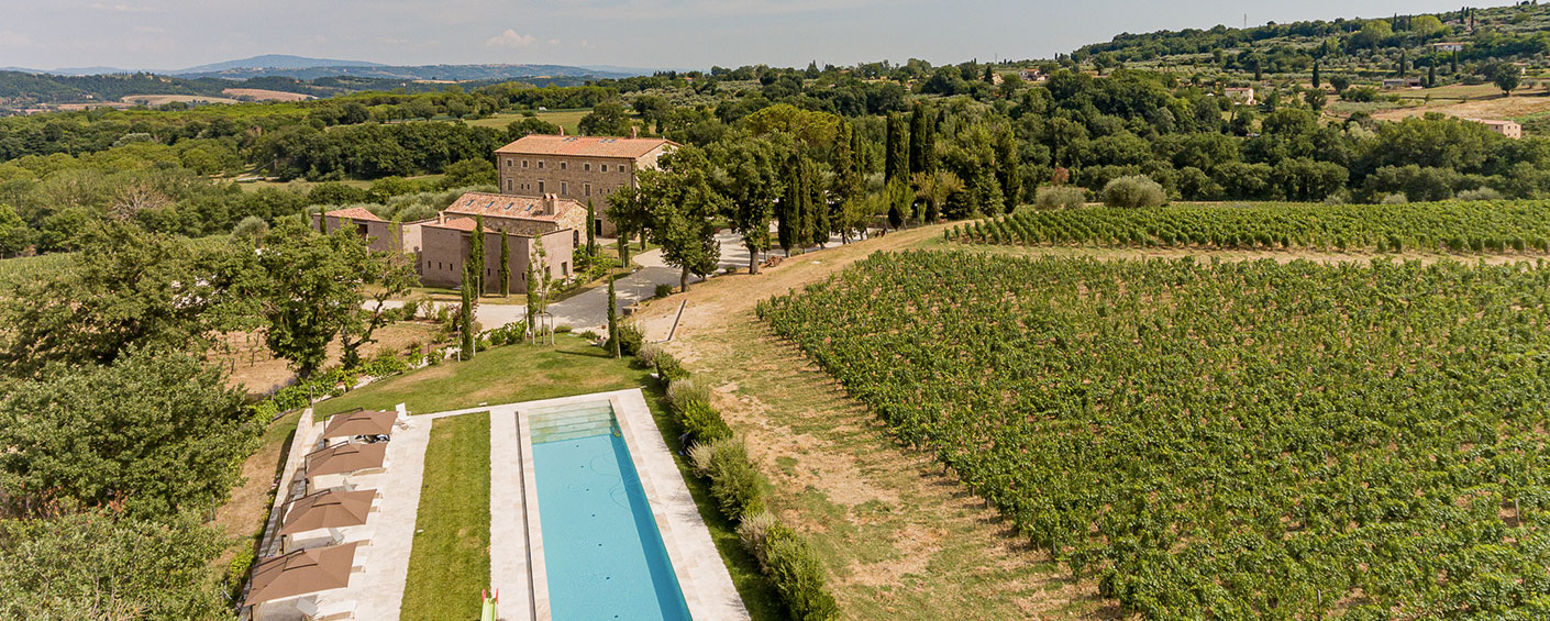 A great designer villa with beautiful views in southern Tuscany
