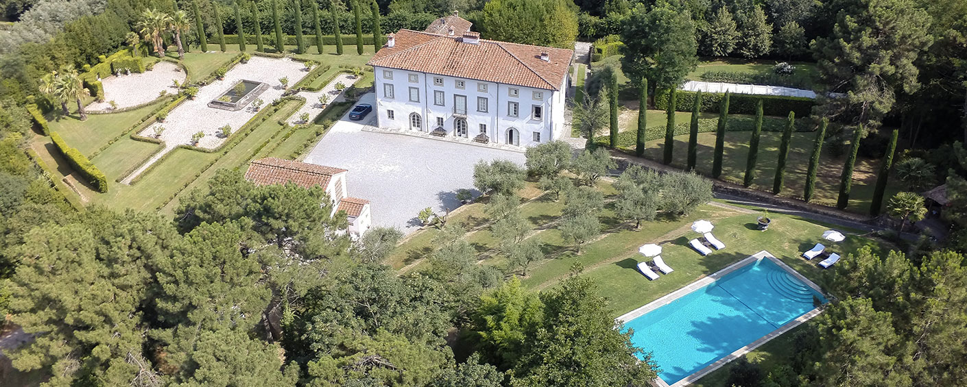 Historic luxury villa set in the hills around Lucca, surrounded by exquisite gardens