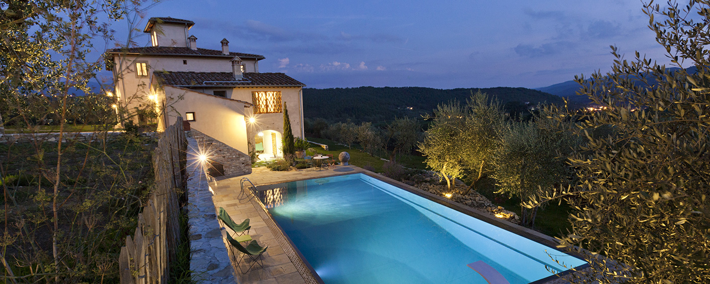 Luxury villa in the green hills close to Florence