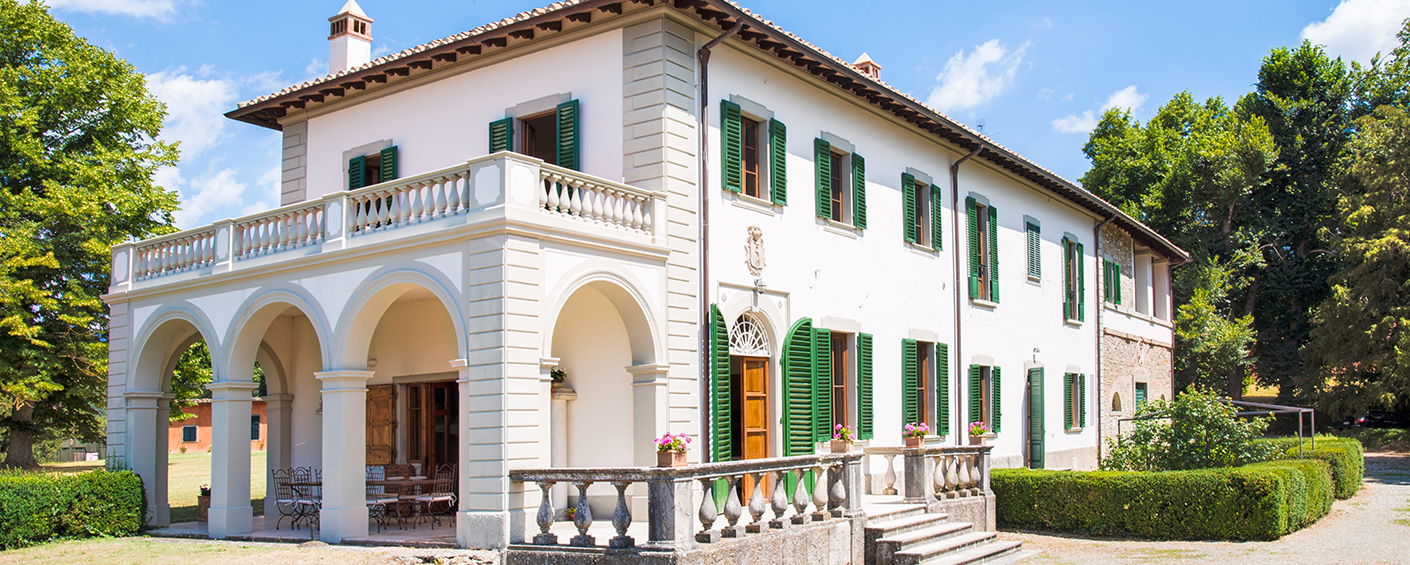 Historic villa in the green hills north of Florence