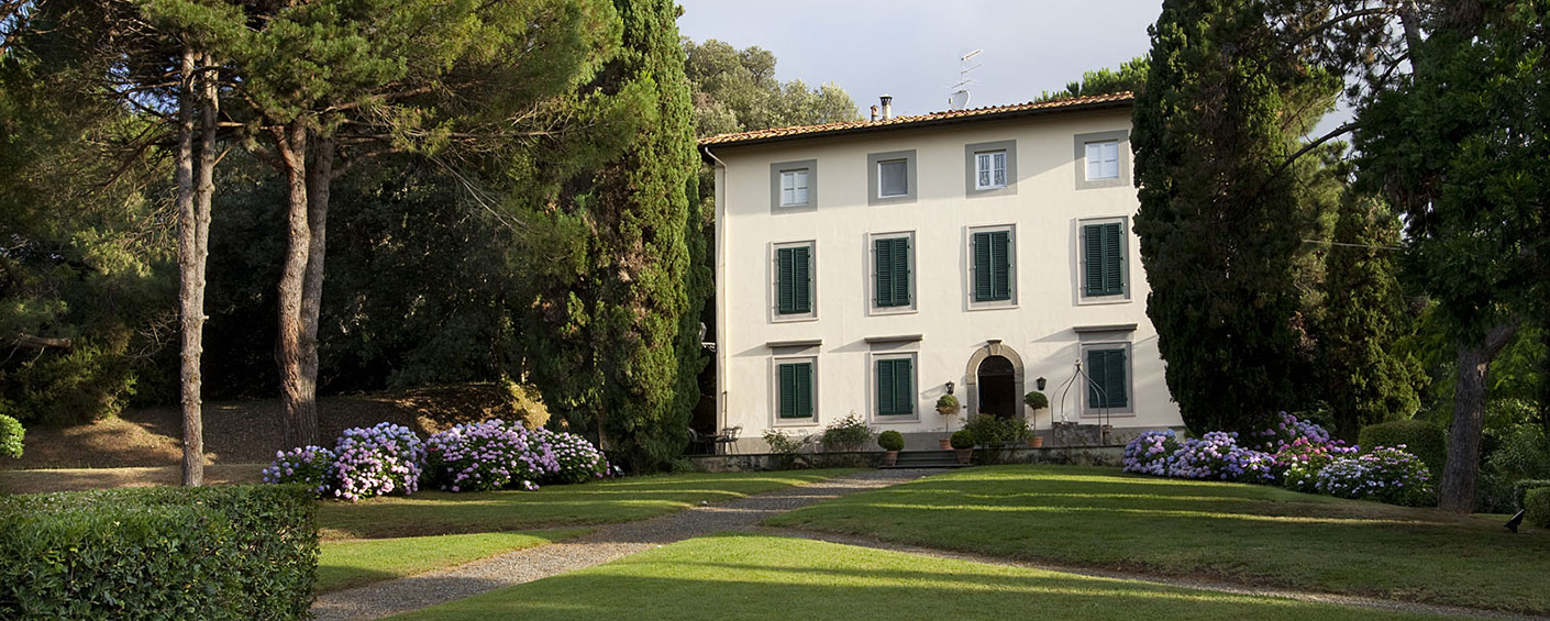 Elegant 19th-century villa with park and full-time staff a short drive from the beach